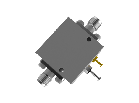 SMA Analog Phase Shifter From 7 to 12.5 GHz With an Adjustable Phase of 180 Deg.